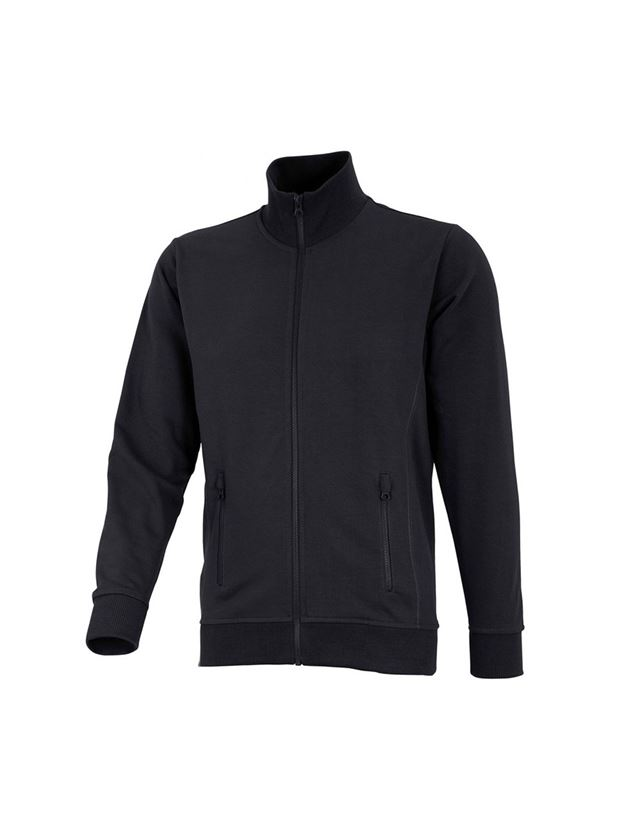 Shirts, Pullover & more: e.s. Sweat jacket poly cotton + black