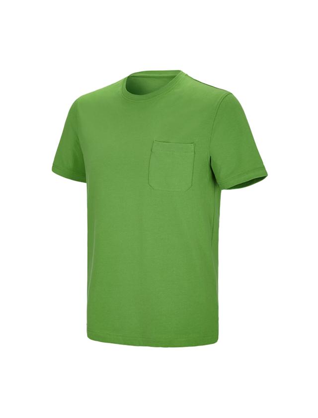 Shirts & Co.: e.s. T-Shirt cotton stretch Pocket + seegrün