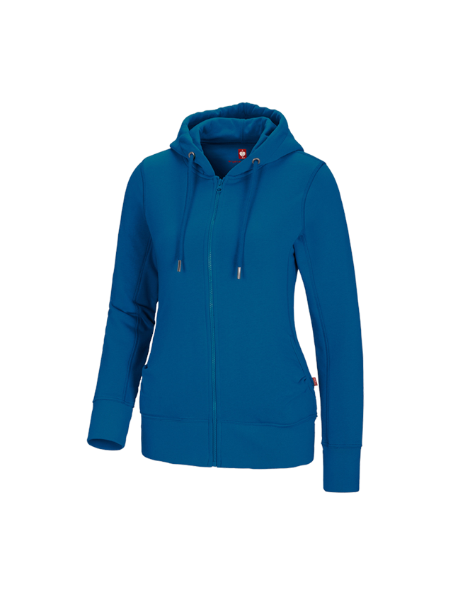 Shirts, Pullover & more: e.s. Hoody sweatjacket poly cotton, ladies' + atoll