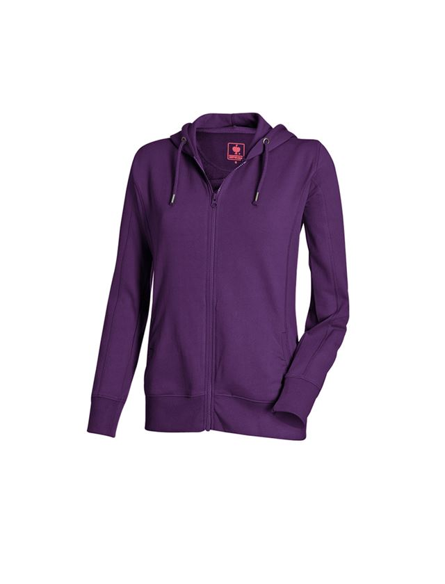 Shirts, Pullover & more: e.s. Hoody sweatjacket poly cotton, ladies' + violet