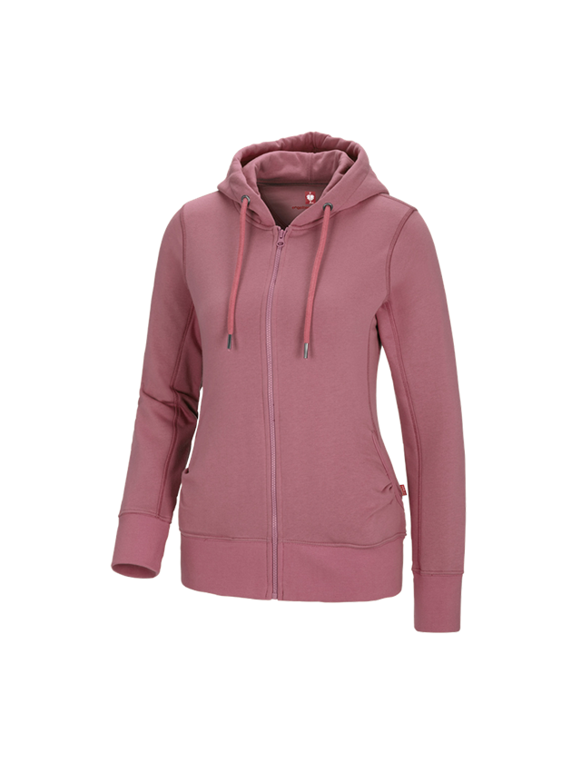Shirts, Pullover & more: e.s. Hoody sweatjacket poly cotton, ladies' + antiquepink