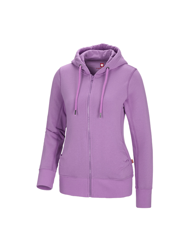Shirts, Pullover & more: e.s. Hoody sweatjacket poly cotton, ladies' + lavender