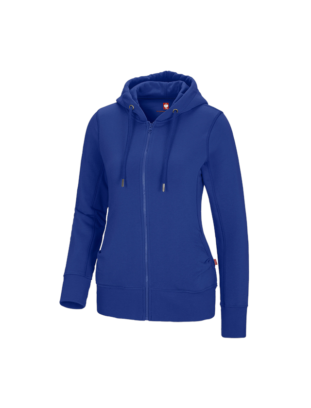 Shirts, Pullover & more: e.s. Hoody sweatjacket poly cotton, ladies' + royal