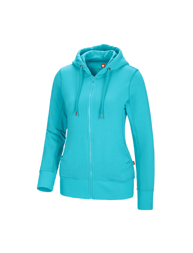Shirts, Pullover & more: e.s. Hoody sweatjacket poly cotton, ladies' + capri