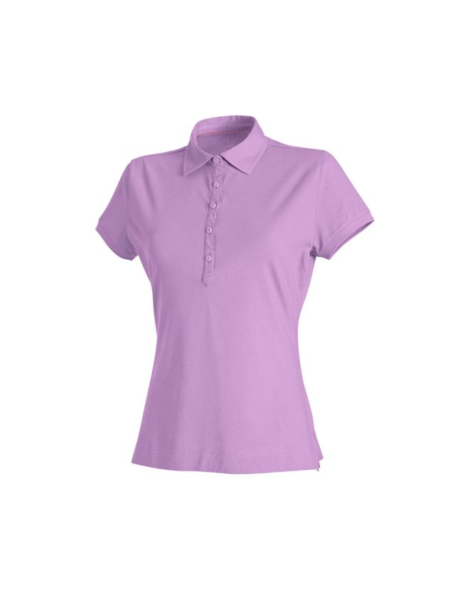Shirts, Pullover & more: e.s. Polo shirt cotton stretch, ladies' + lavender