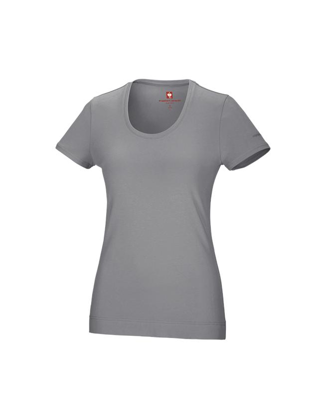 Shirts & Co.: e.s. T-Shirt cotton stretch, Damen + platin