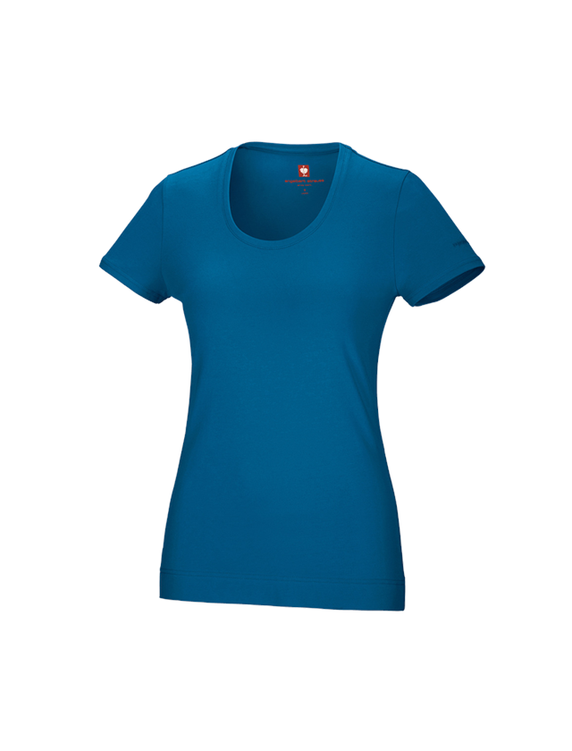 Shirts, Pullover & more: e.s. T-shirt cotton stretch, ladies' + atoll