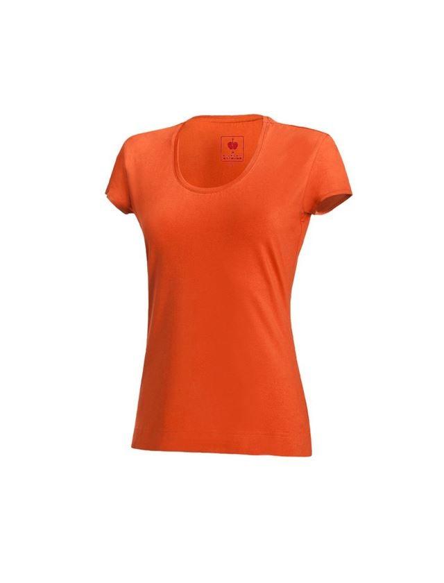 Shirts & Co.: e.s. T-Shirt cotton stretch, Damen + nektarine