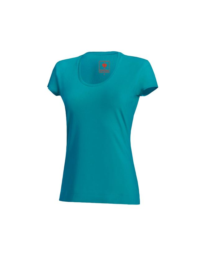 Shirts, Pullover & more: e.s. T-shirt cotton stretch, ladies' + ocean