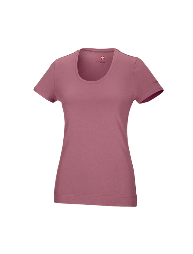 Shirts, Pullover & more: e.s. T-shirt cotton stretch, ladies' + antiquepink