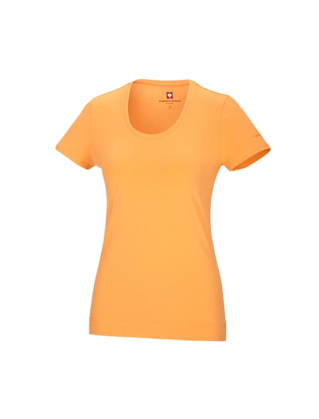 Shirts, Pullover & more: e.s. T-shirt cotton stretch, ladies' + lightorange