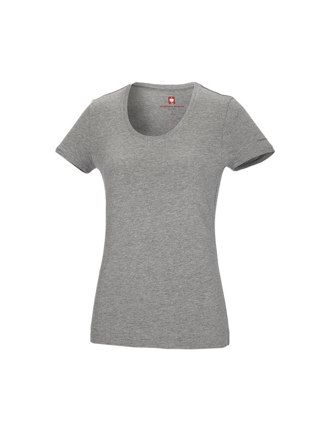 Shirts & Co.: e.s. T-Shirt cotton stretch, Damen + graumeliert