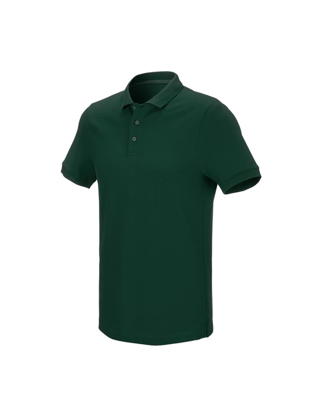 Shirts & Co.: e.s. Piqué-Polo cotton stretch + grün