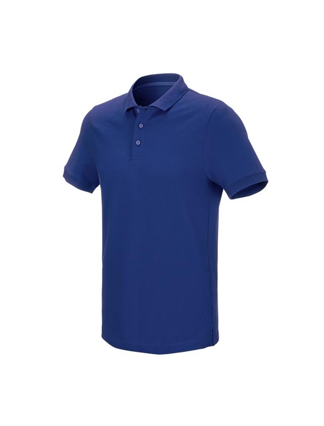 Shirts & Co.: e.s. Piqué-Polo cotton stretch + kornblau