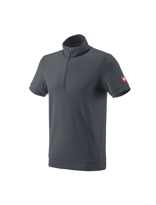 Shirts, Pullover & more: e.s. Functional ZIP t-shirt UV + anthracite/platinum