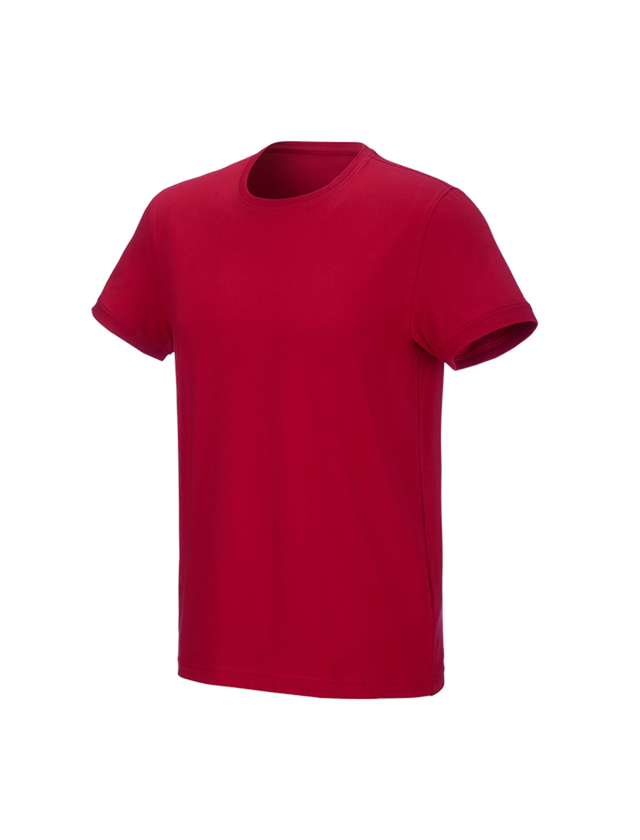 Shirts & Co.: e.s. T-Shirt cotton stretch + feuerrot