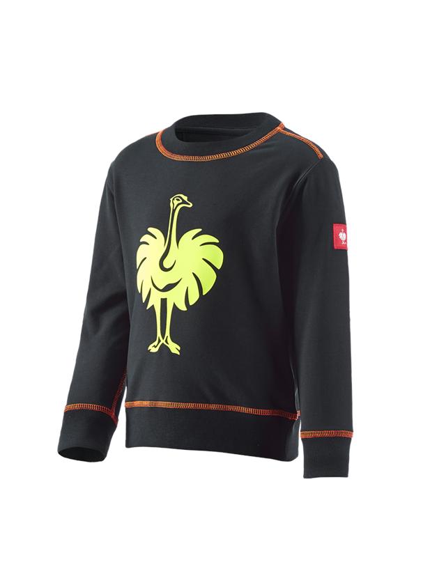 Hauts: Sweatshirt e.s.motion 2020, enfants + noir/jaune fluo/orange fluo