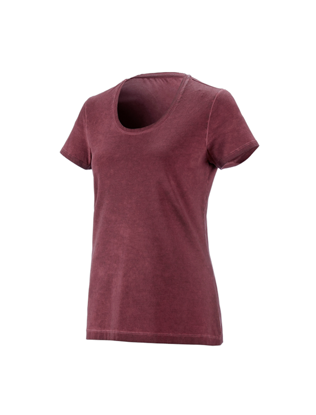 Shirts, Pullover & more: e.s. T-Shirt vintage cotton stretch, ladies' + ruby vintage