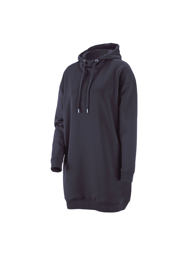 Shirts, Pullover & more: e.s. Oversize hoody sweatshirt poly cotton, ladies + navy