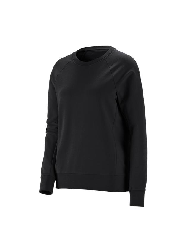 Shirts & Co.: e.s. Sweatshirt cotton stretch, Damen + schwarz
