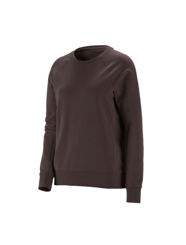 Shirts, Pullover & more: e.s. Sweatshirt cotton stretch, ladies' + chestnut