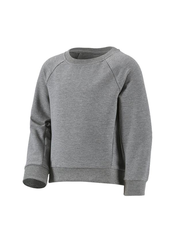 Shirts, Pullover & more: e.s. Sweatshirt cotton stretch, children's + grey melange