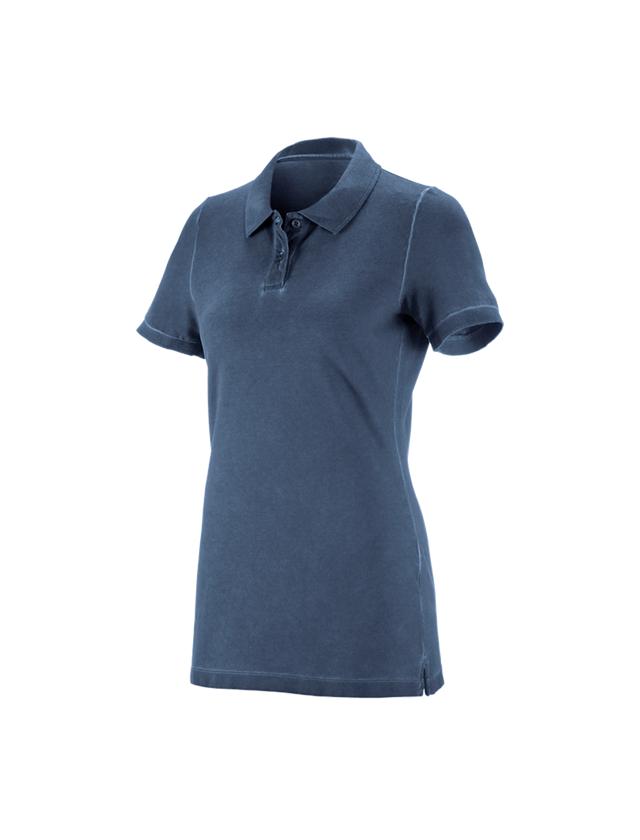 Shirts, Pullover & more: e.s. Polo shirt vintage cotton stretch, ladies' + antiqueblue vintage
