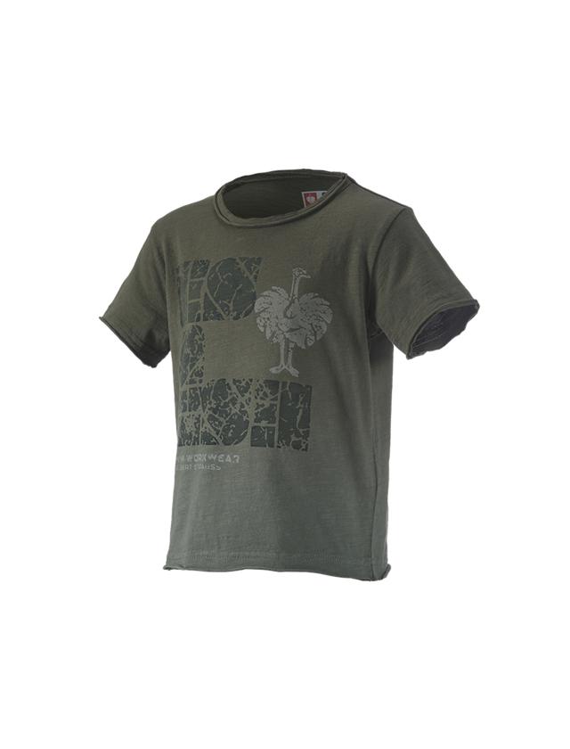 Shirts & Co.: e.s. T-Shirt denim workwear, Kinder + tarngrün vintage