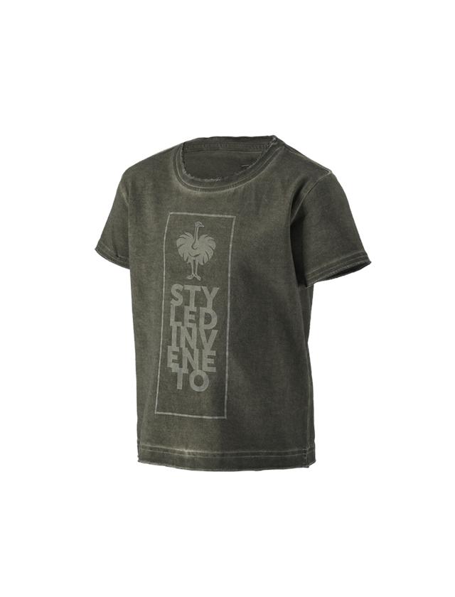Hauts: T-Shirt e.s.motion ten veneto, enfants + vert camouflage vintage