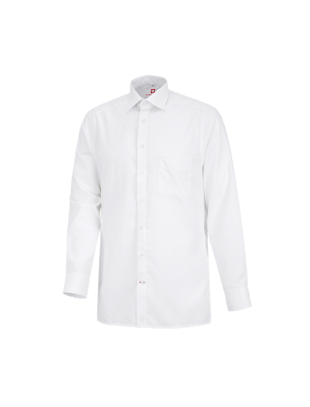 Shirts, Pullover & more: Business shirt e.s.comfort, long sleeved + white