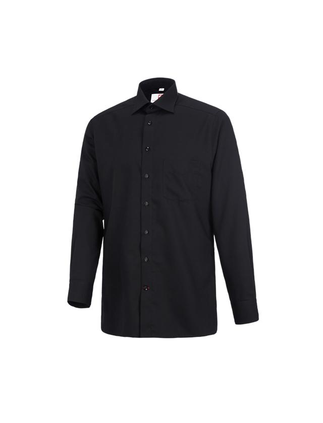 Hauts: Chemise de travail e.s.comfort, à manches longues + noir