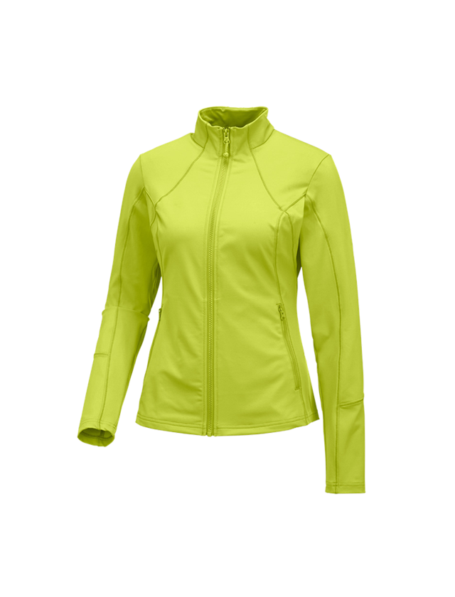 Work Jackets: e.s. Functional sweat jacket solid, ladies + maygreen