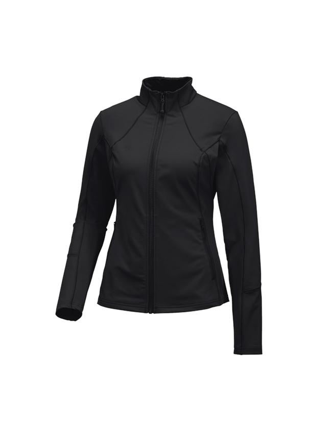 Vestes de travail: e.s. Veste sweat fonctionnel solid, femmes + noir