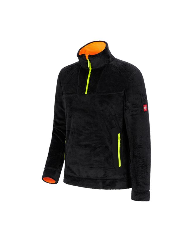 Shirts, Pullover & more: Troyer Highloft e.s.motion 2020 + black/high-vis yellow/high-vis orange