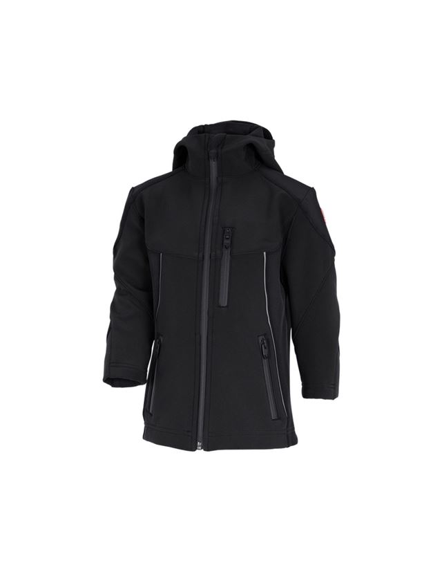 Jackets: Softshell jacket e.s.vision, children's + black