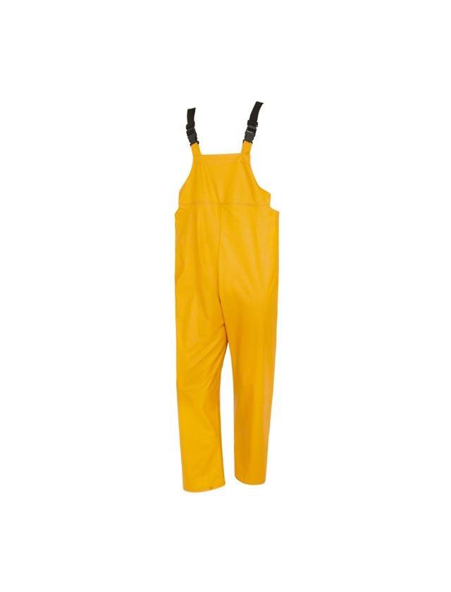Hosen: Flexi-Stretch Latzhose + gelb