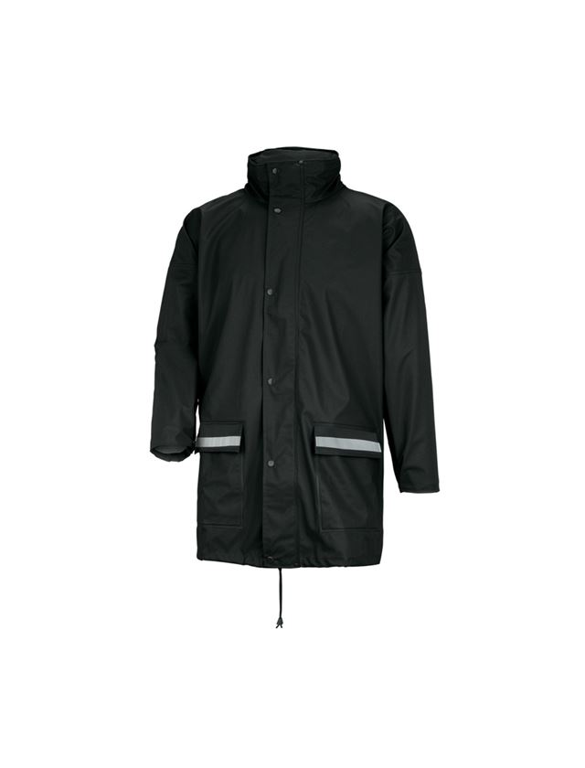 Vestes de travail: Veste de pluie Flexi- Stretch + noir