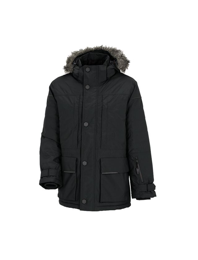 Work Jackets: Winter parka e.s.vision, men's + black