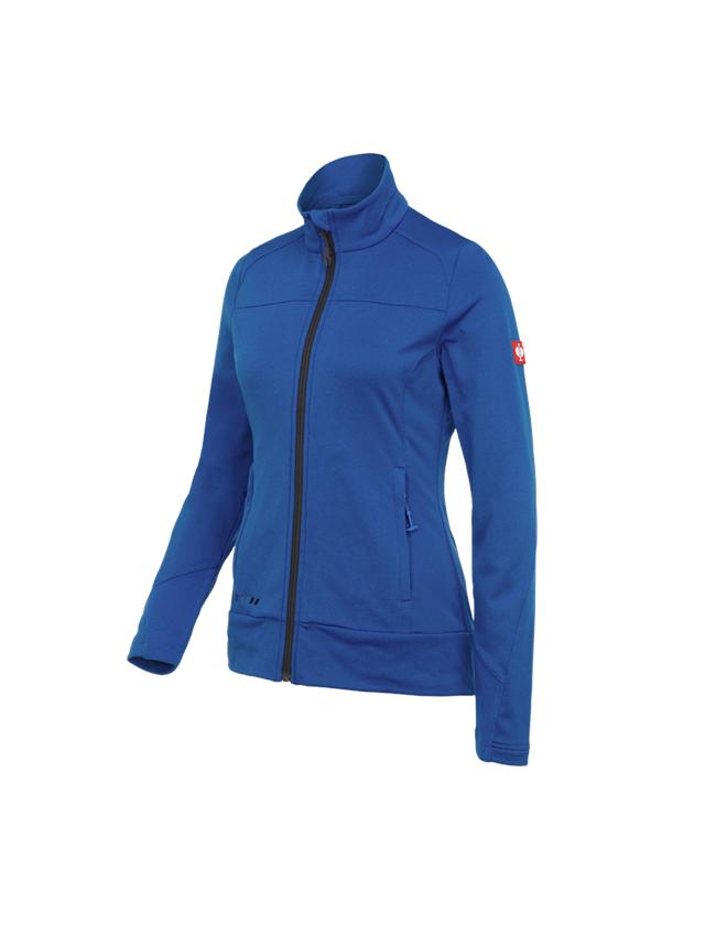 Work Jackets: FIBERTWIN®clima-pro jacket e.s.motion 2020,ladies' + gentian blue/graphite