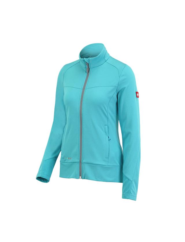 Work Jackets: FIBERTWIN®clima-pro jacket e.s.motion 2020,ladies' + capri/platinum