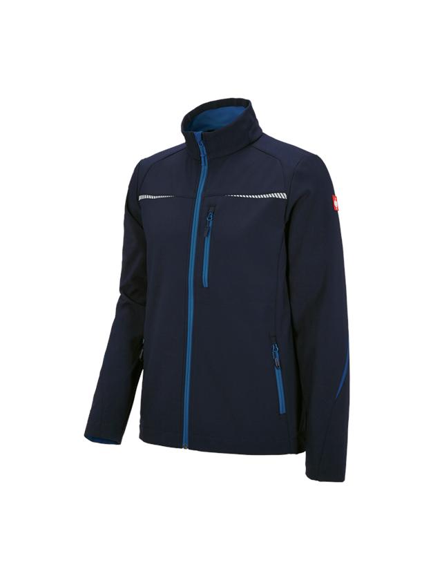 Work Jackets: Softshell jacket e.s.motion 2020 + navy/atoll