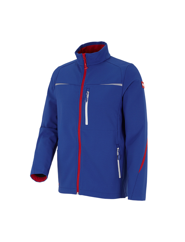 Work Jackets: Softshell jacket e.s.motion 2020 + royal/fiery red