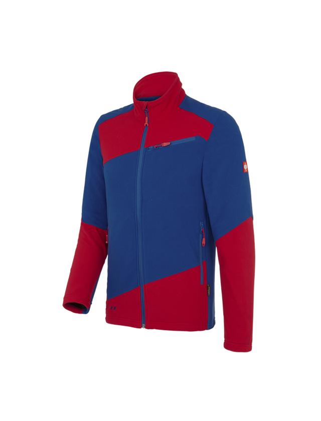 Work Jackets: Fleece jacket e.s. motion 2020 + royal/fiery red