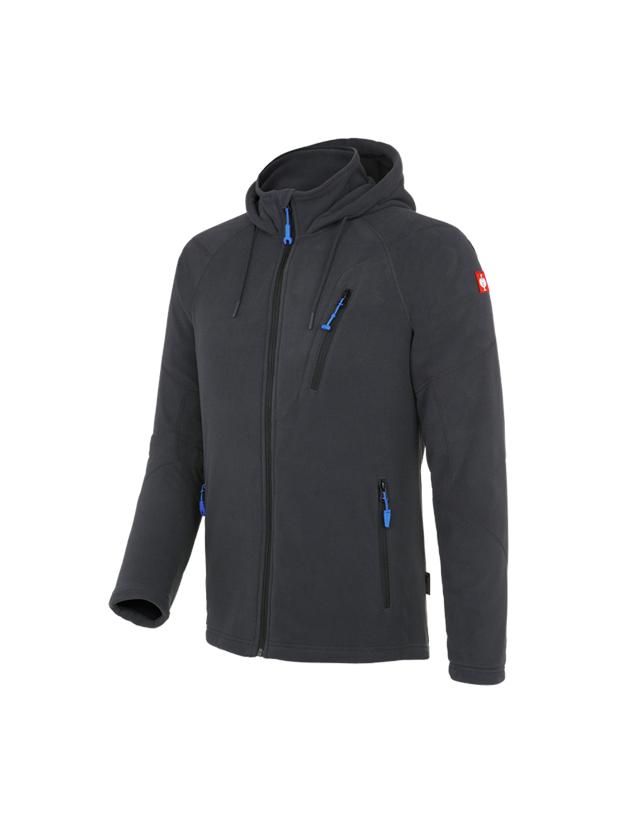 Vestes de travail: Veste à capuche en laine polaire e.s.motion 2020 + graphite