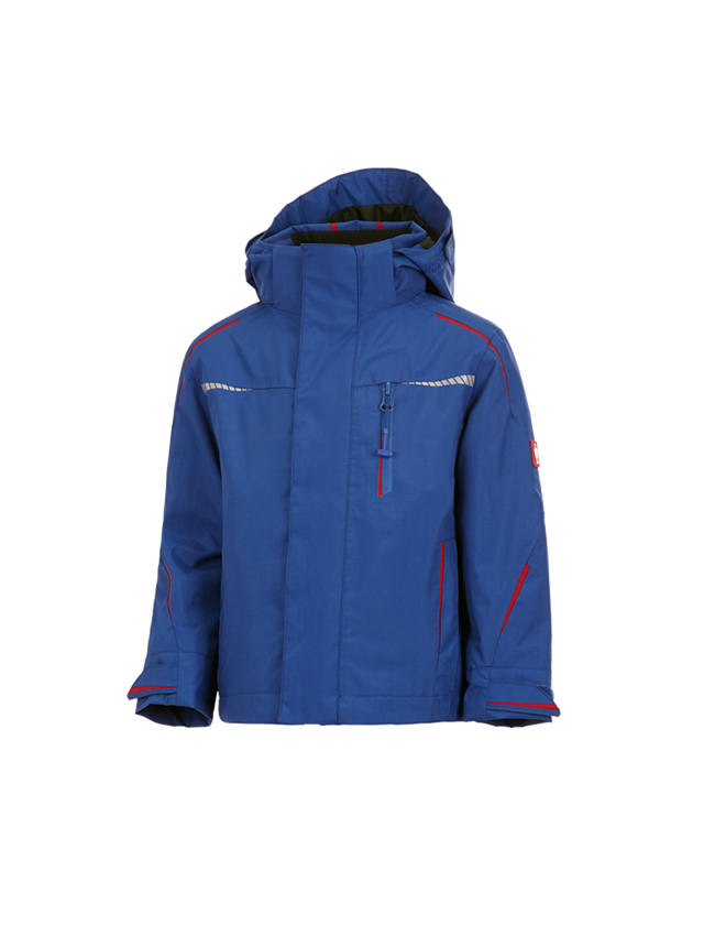 Jackets: 3 in 1 functional jacket e.s.motion 2020,  childr. + royal/fiery red