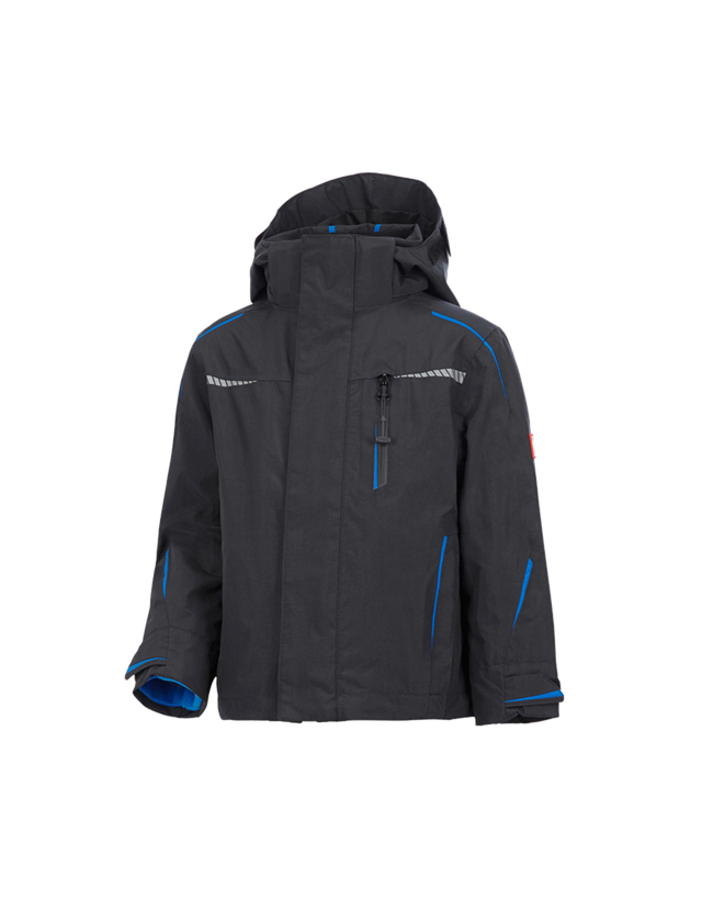 Jackets: 3 in 1 functional jacket e.s.motion 2020,  childr. + graphite/gentian blue