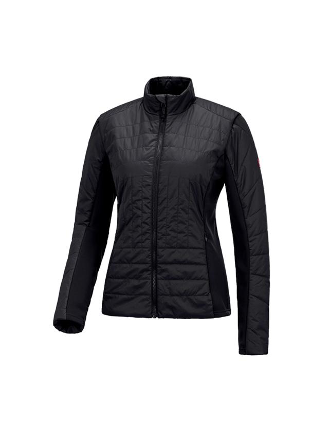 Vestes de travail: e.s. Veste matelassée fonct. thermo stretch,femmes + noir
