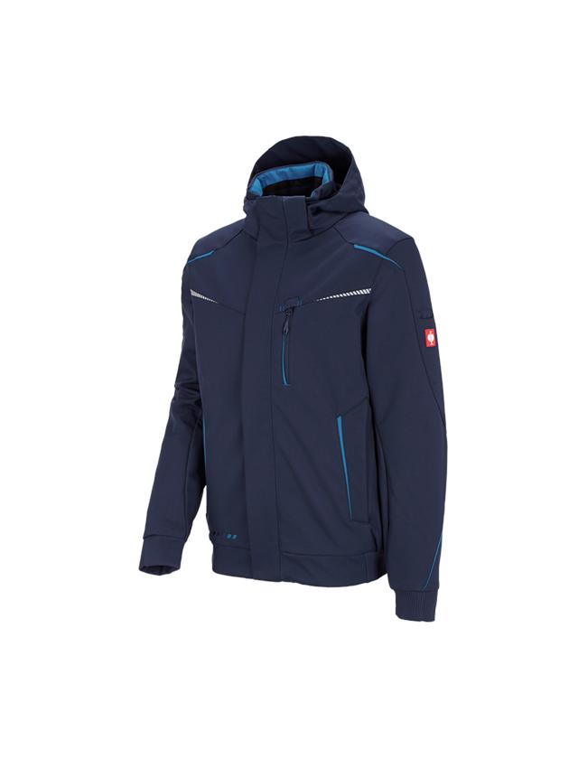 Work Jackets: Winter softshell jacket e.s.motion 2020, men's + navy/atoll