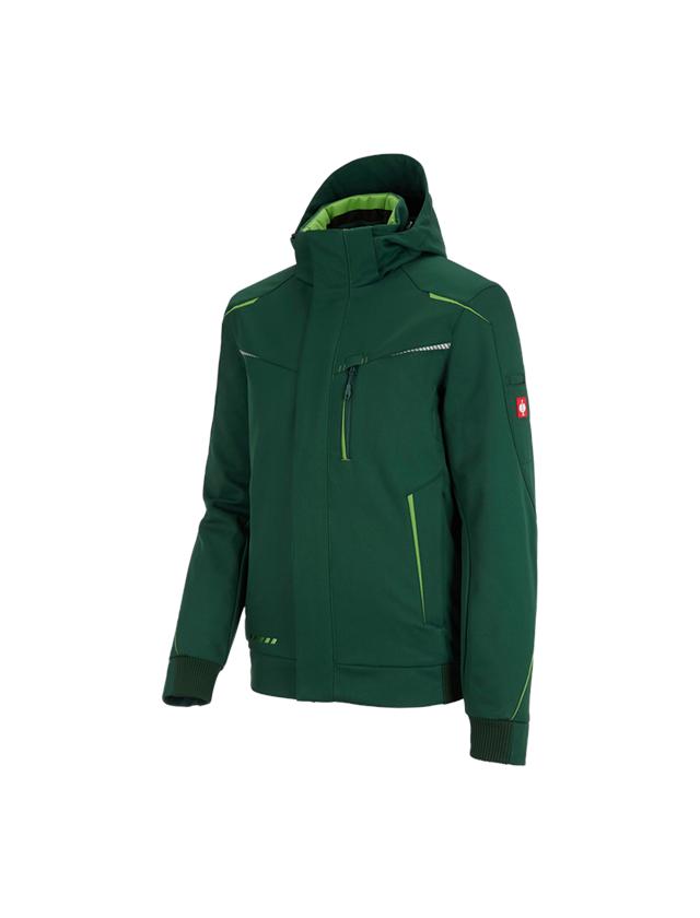Work Jackets: Winter softshell jacket e.s.motion 2020, men's + green/seagreen