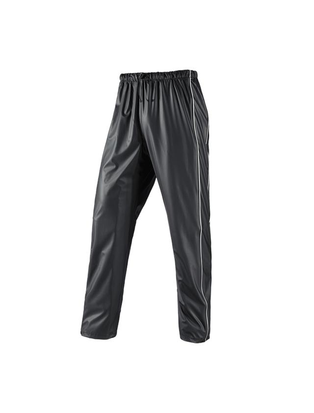 Hosen: Regenhose flexactive + schwarz